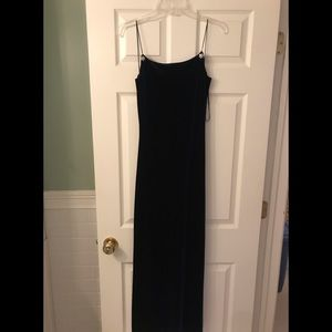 Long velvet/satin dress with matching shawl